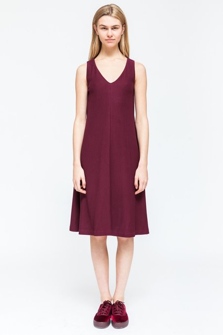 About Wear Sleeveless Dress - Burgundy