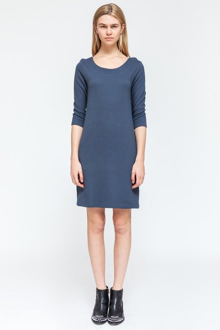 About Wear Soft 3/4 Sleeve Dress - Blue