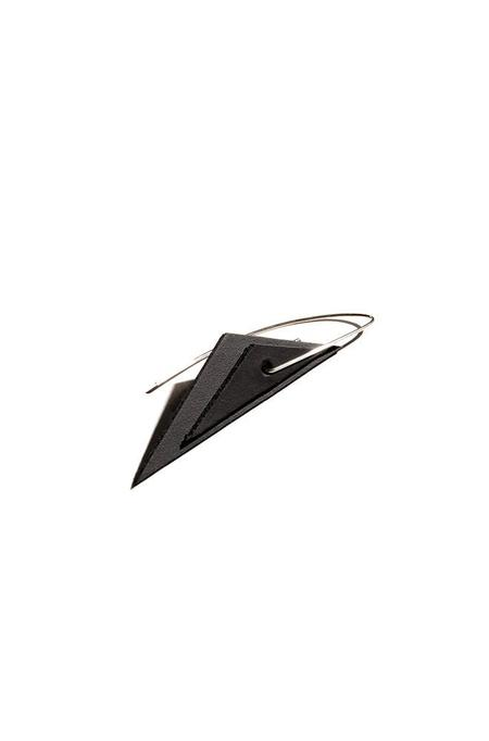 AUMORFIA TRNGL EARRINGS - BLACK