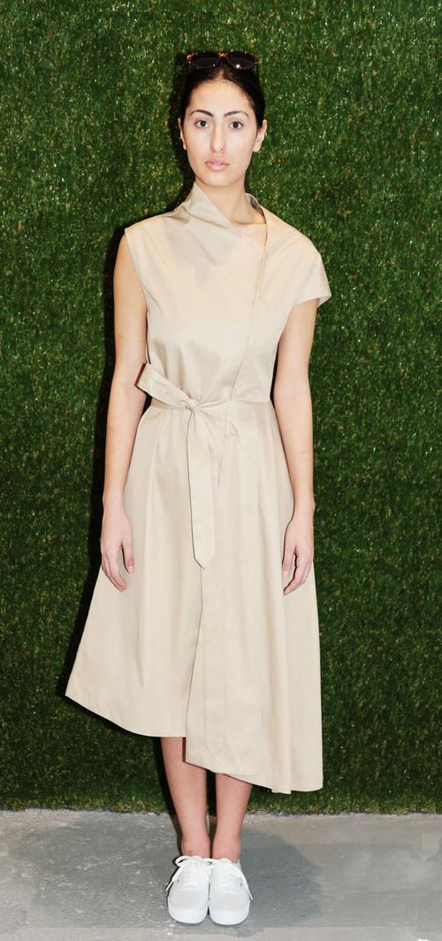 Tia Cibani Asymmetric Wrap Dress