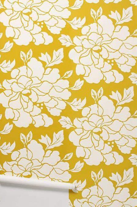 Porridge Paeonia Wallpaper - Gold