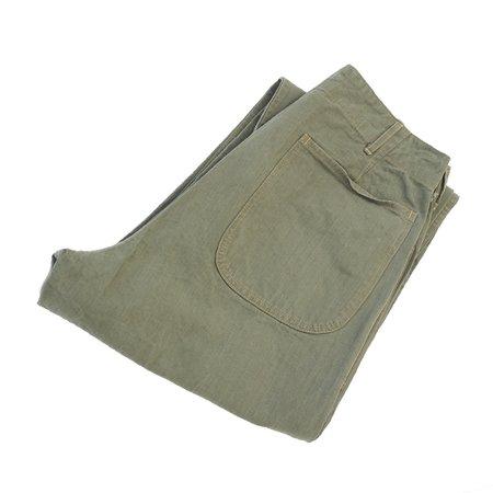 Buzz Rickson's HBT USMC Pants - Olive Drab