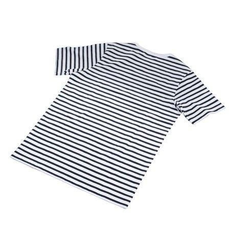 Merz B. Schwanen 2M15 Striped T-Shirt - Ink/White
