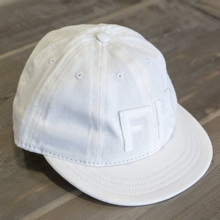 The Foxhole x Ebbets Field Flannels 8 Panel Fitted Cavalry Twill Cap - Off-White