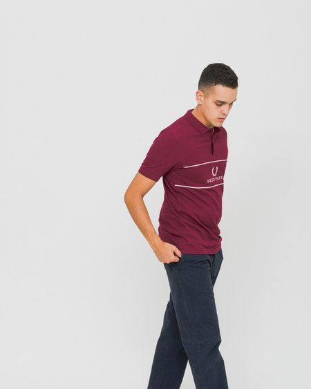 Fred Perry Sports Authentic Short Sleeve Polo - Red Oporto