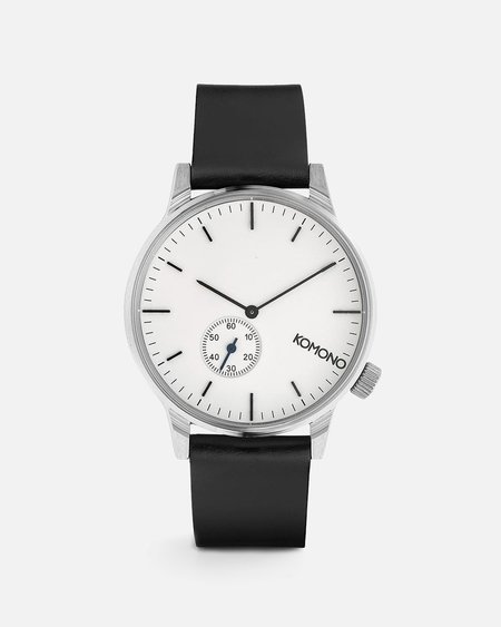Komono Winston Subs Watch - Silver/White