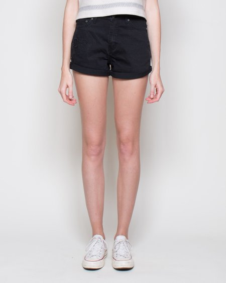 Cheap Monday Donna Shorts - Black Fusion