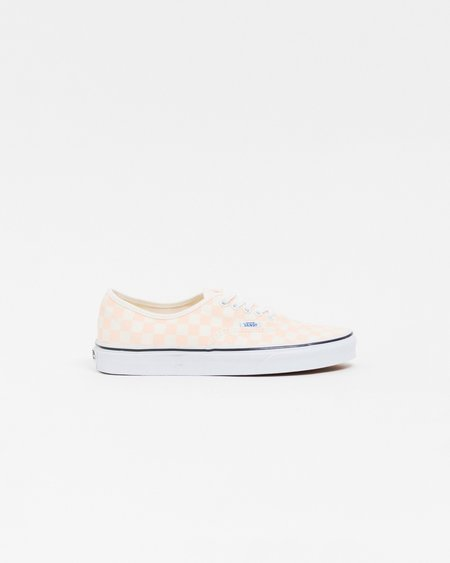 Vans Authentic Checkerboard Shoes - Apricot Ice/Classic White