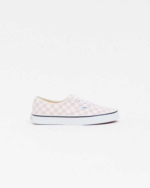 498d1f63f7619e Vans Authentic Checkerboard Shoes - Chalk Pink Classic White ...