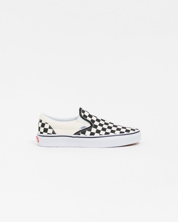 Vans Checkerboard Classic Slip-On Shoes - Black White  21991b51997