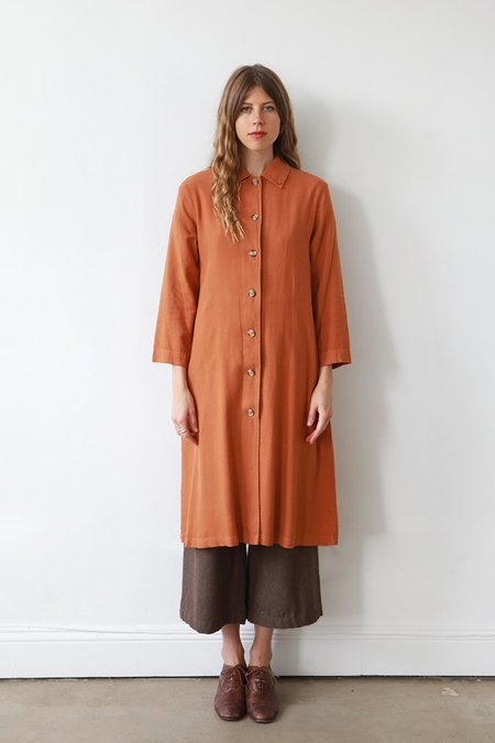 Me & Arrow Long Jacket Dress - Persimmon