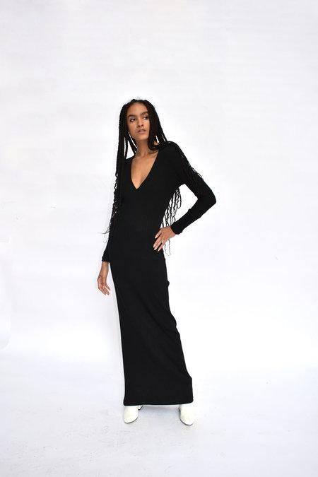 CV Saint Rib Dress - Black
