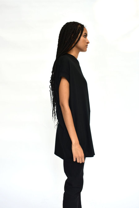 House of 950 Button Back Tunic - Black