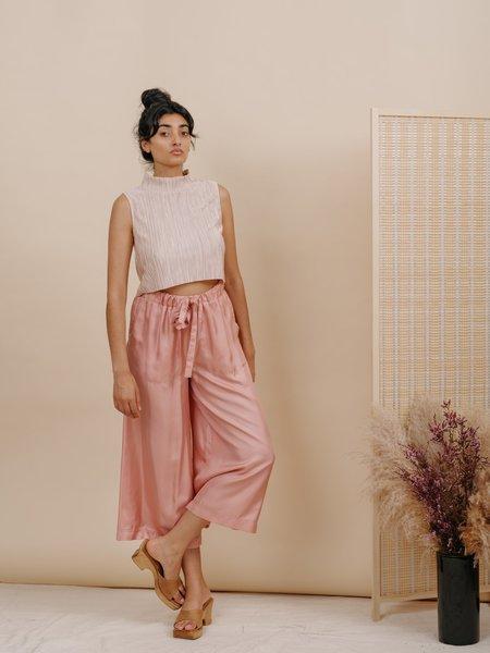 Wolcott : Takemoto Yayoi Silk Pant - Pink
