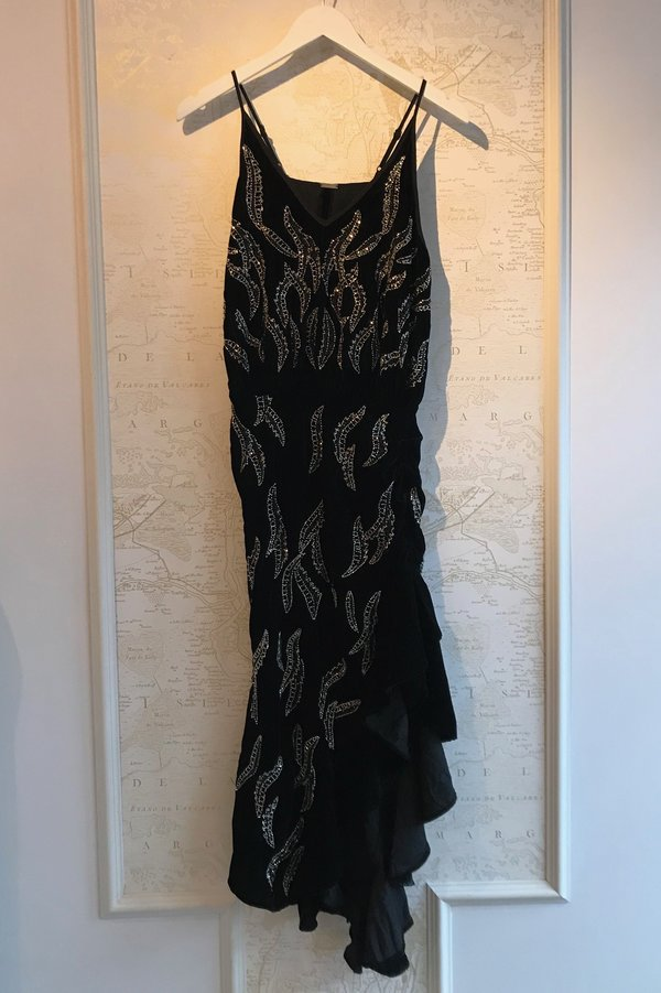 Dodo Bar Or Black Dress.Dodo Bar Or Agnes Embroidered Velvet Dress Black Garmentory