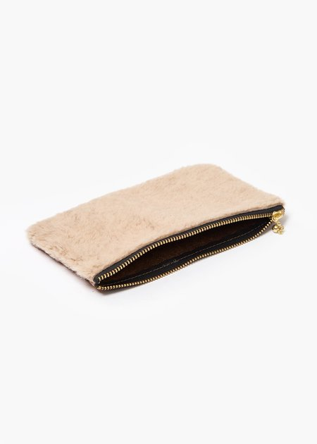 Erin Templeton Fuzzy Time For A Change Pouch - Beige