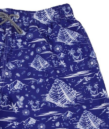 Boardies Tulum Mid Swim Shorts - Blue