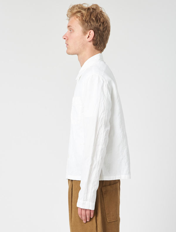 85a238362e1b5 Our Legacy Shrunken Shirt - White Wrinkled Madras