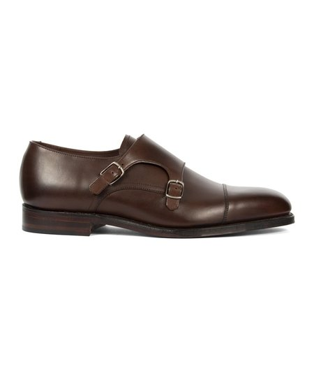 Loake Cannon Calf Monk Strap Shoe - Brown