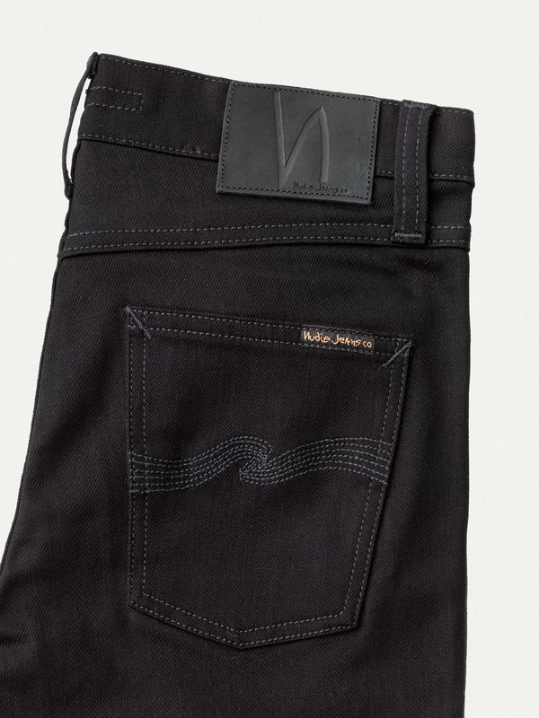 best sell detailed images superior quality Nudie Jeans Nudie Lean Dean Dry Jean - Ever Black