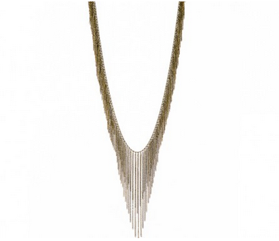 Birds of a Feather Fringe Necklace