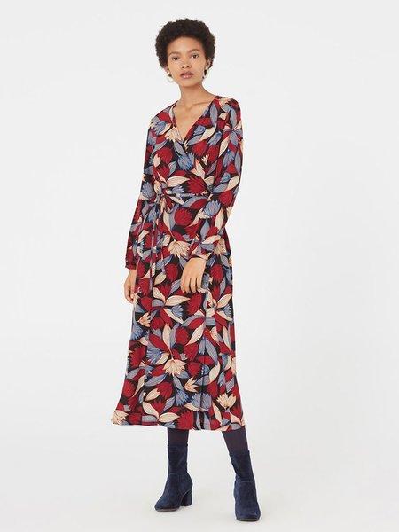 Nice Things Lotus Print Wrap Dress