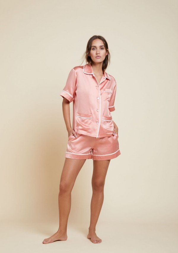 Olivia Von Halle Millicent Silk Short Shirt Set  2c7f281f8