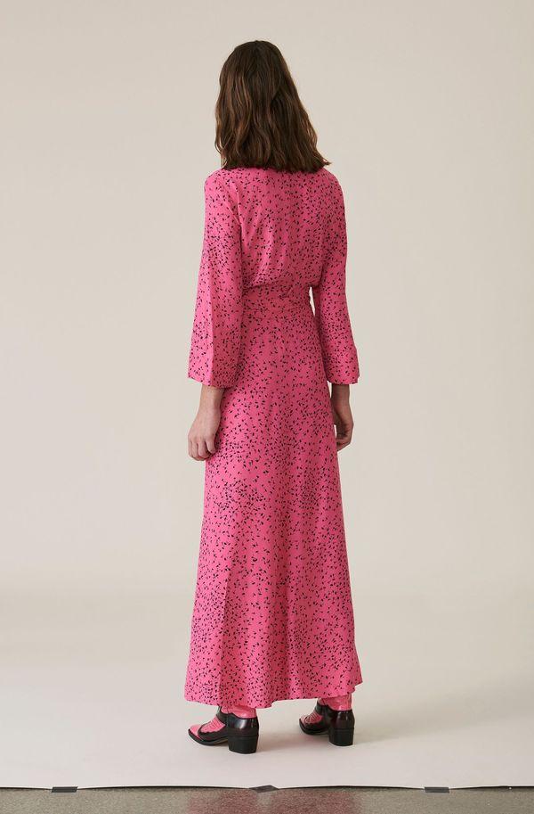 f1ec1d1d45 Ganni Barra Crepe Wrap Dress - Pink. sold out. Ganni