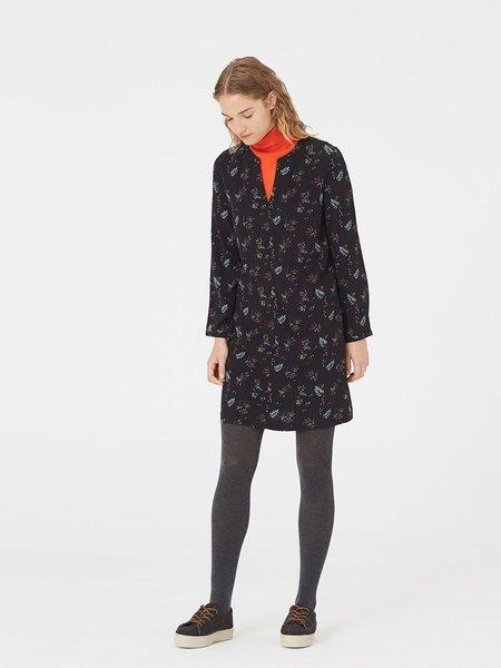 Nice Things Mini Flowers Tunic Dress - Black