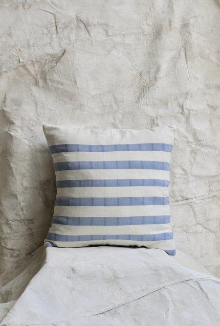 Cuttalossa Cotton Striped Pillow - Sky Blue