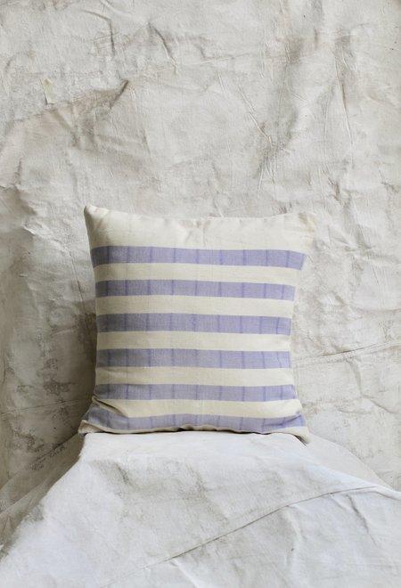 Cuttalossa Cotton Striped Pillow - Lavender