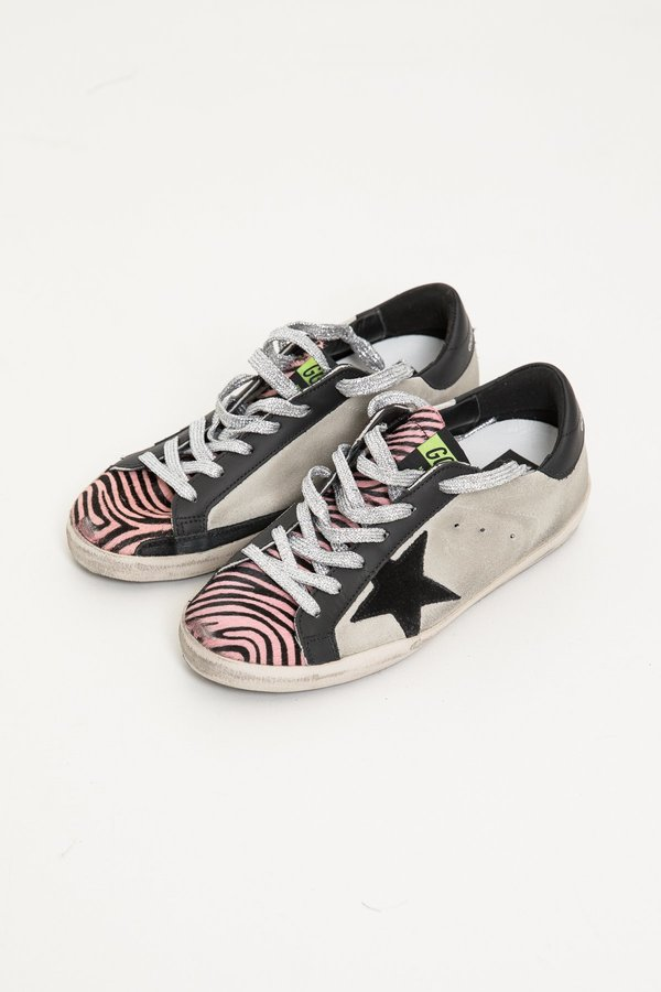 7a22870eb07f Golden Goose Superstar Sneakers - Ice Suede Pink Zebra. sold out. Golden  Goose