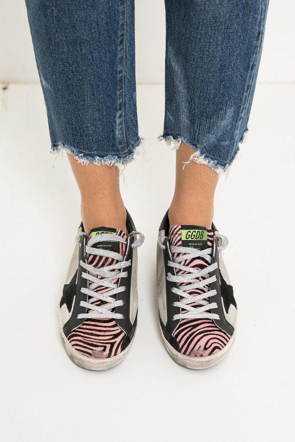 974ed547b074 Golden Goose Superstar Sneakers - Ice Suede Pink Zebra