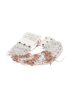 Arielle De Pinto Tunisian Row Bracelet in Sterling Silver + Rose Gold