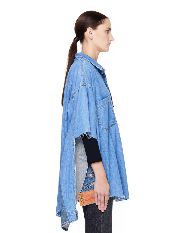 501a2456bb3 Vetements Oversized Denim Shirt - Blue.  1