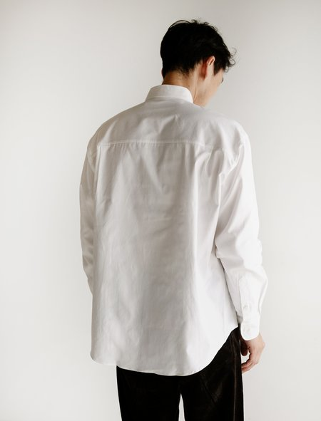 Auralee Fink Shuttle Ox BD Shirt - White