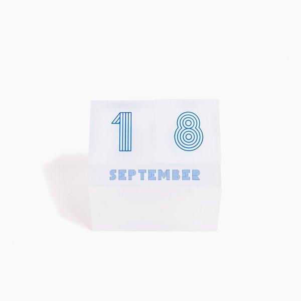 Poketo Lucite Perpetual Block Calendar