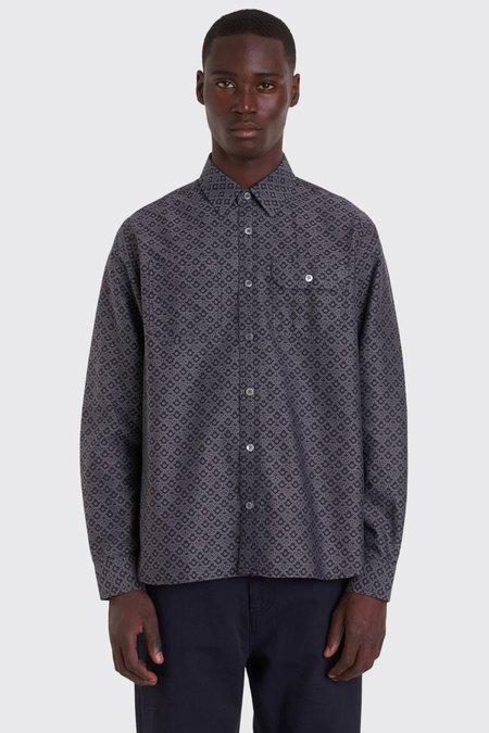 Tres Bien Work Shirt Jacquard - Black