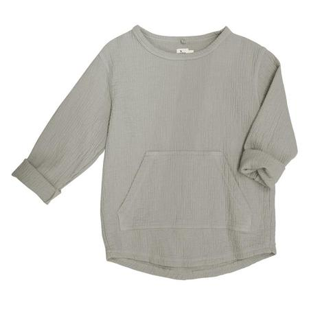 kids Nico Nico Paz Quilted Sweatshirt - Granite Grey