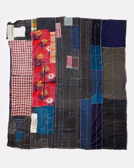 Vintage Japanese Multi Patched Quilt