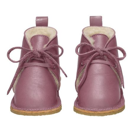 KIDS Birds Of Nature Birds Boots With Fur Lining - Plume Purple