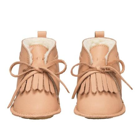 Kids Birds Of Nature Winter Desert Booties With Fur Lining - Salmon Pink