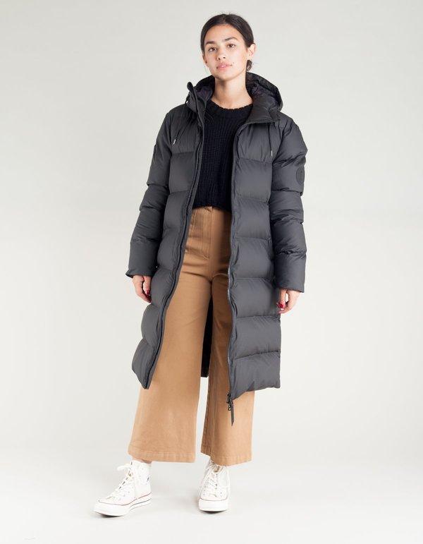 fb9fe5903 Rains Long Puffer Jacket - Black on Garmentory