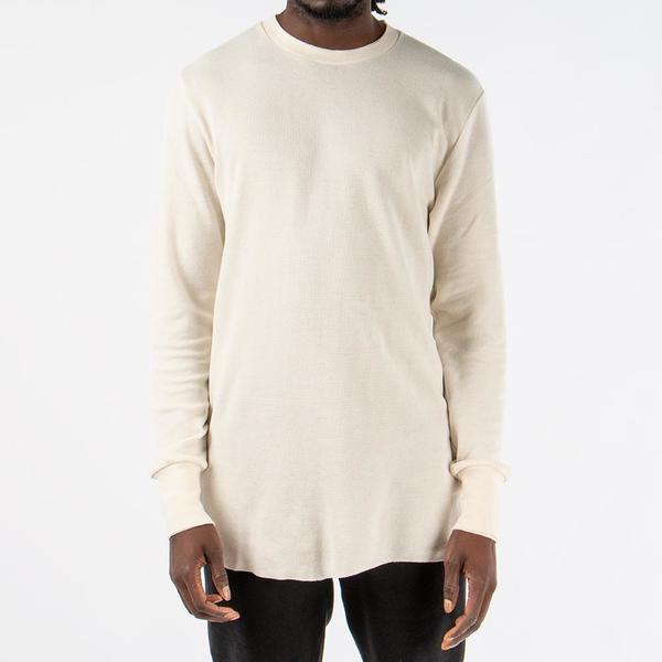Aimé Leon Dore Long Sleeve Distressed Birdseye Thermal - Cream ... f4b78c969