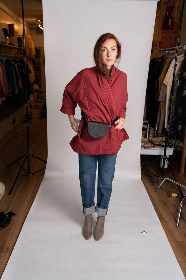 Atelier delphine haori coat - mahogany