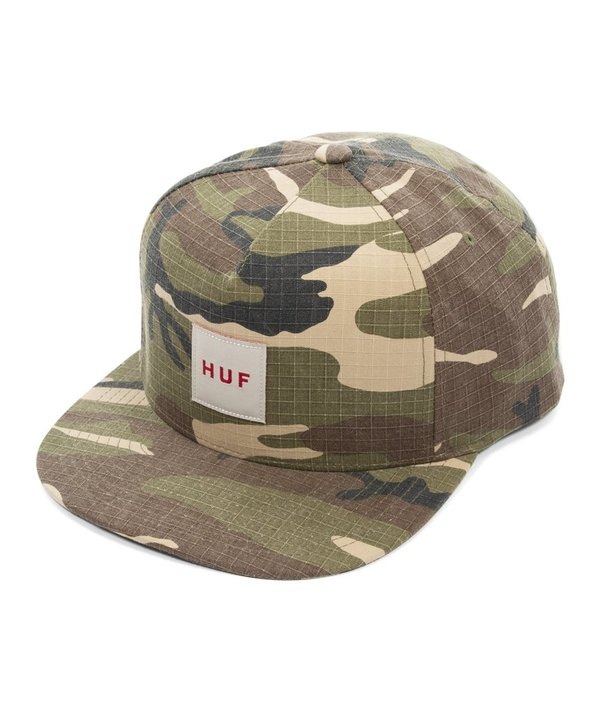 463e34936 HUF Ripstop Box Logo Snapback Hat - Olive on Garmentory