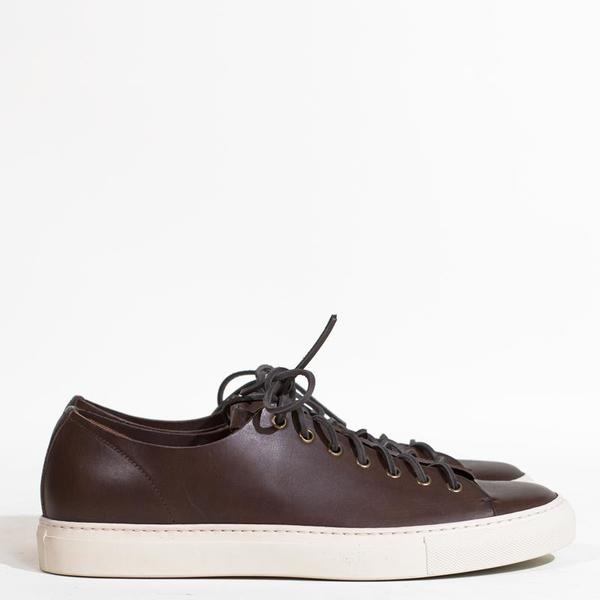 4f754bd705bc71 Buttero Tanino Leather Low Sneakers - Dark Brown.  334.00 297.00