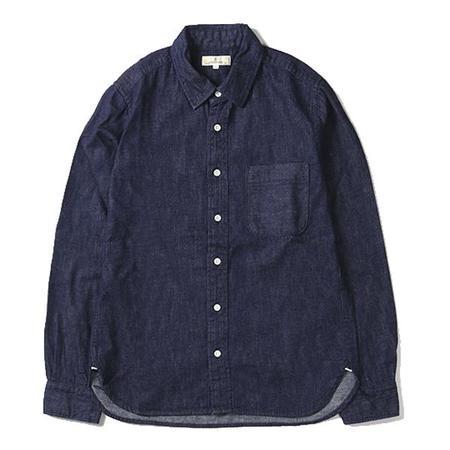 Japan Blue 8 Oz. Selvedge Denim Button Up Shirt