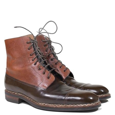 Vintage Saint Crispin's Russian Hatch Grain & Brown Shell Cordovan PC Boot