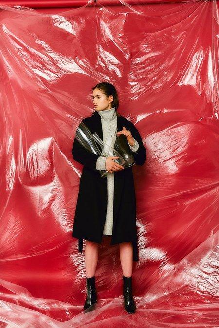 Devlyn Van Loon Turtleneck Sweaterdress - Heather Grey